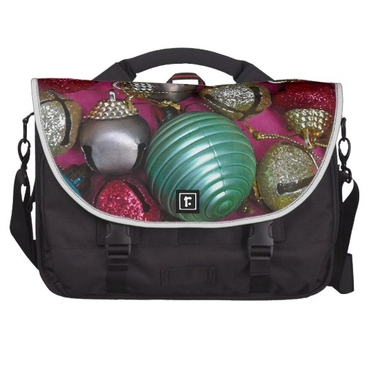 Colorful christmas ornaments laptop computer bag