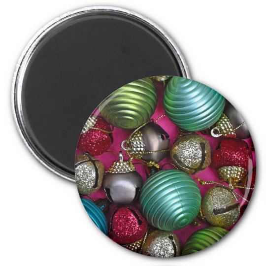 Colorful christmas ornaments magnet