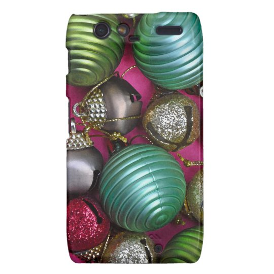 Colorful christmas ornaments motorola droid RAZR case