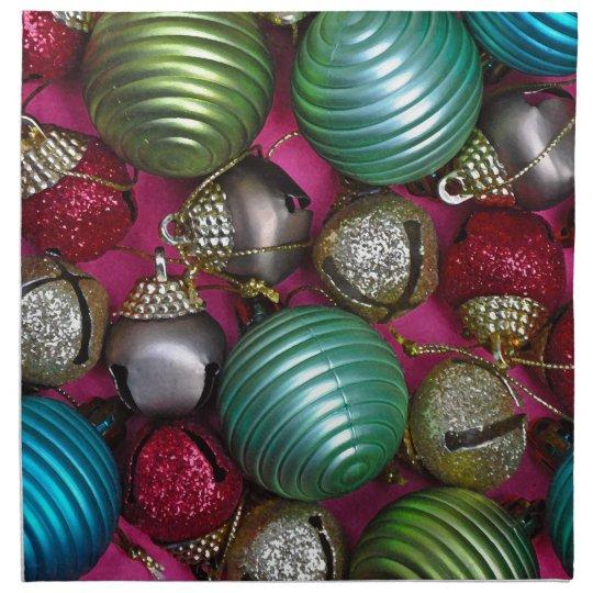 Colorful christmas ornaments napkin