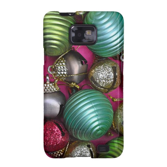 Colorful christmas ornaments samsung galaxy SII cover