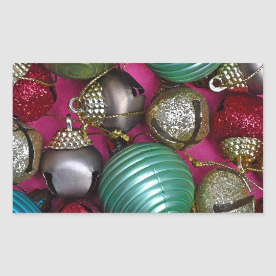 Colorful christmas ornaments sticker