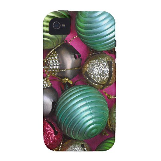 Colorful christmas ornaments vibe iPhone 4 cases
