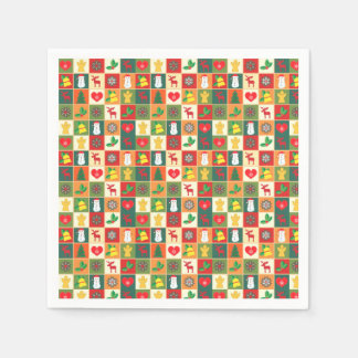 Colorful Christmas Pattern Disposable Napkins