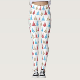 Colorful Christmas Tree Pattern Leggings