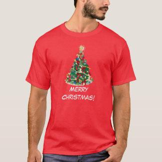 Colorful Christmas Tree: Vector Art: T-Shirt