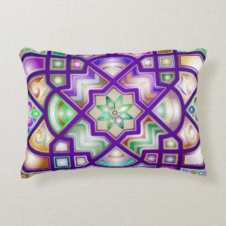 Colorful Chromatic Geometric Shapes Decorative Pillow