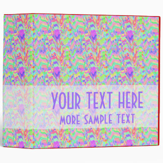 Colorful Chromatic Pattern Binder