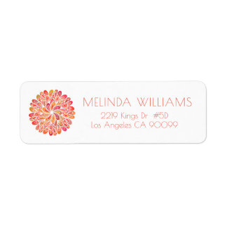 Colorful Circle Abstract Geometric Mandala Return Address Label