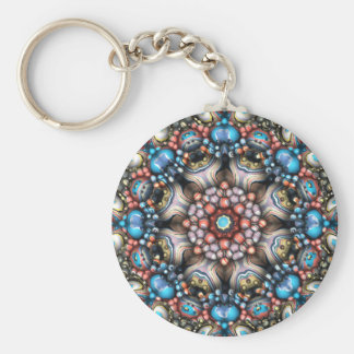 Colorful Circle of 3D Shapes Keychain