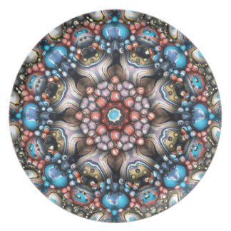 Colorful Circle of 3D Shapes Plate