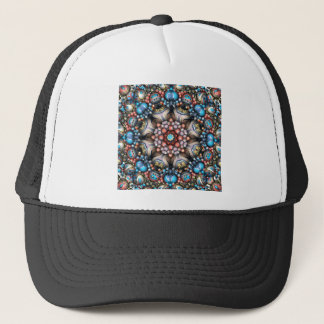 Colorful Circle of 3D Shapes Trucker Hat