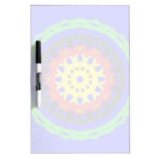 Colorful circle pattern on blue background dry erase board