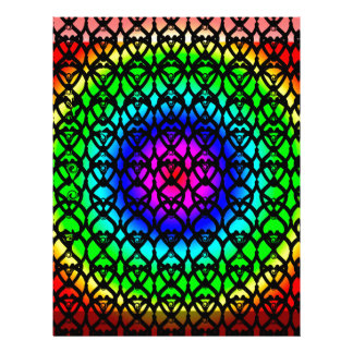 Colorful Circle Rainbow Abstract pattern Letterhead