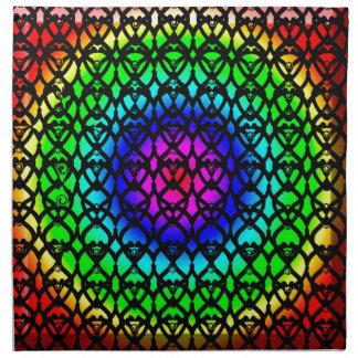 Colorful Circle Rainbow Abstract pattern Napkin