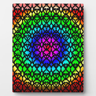 Colorful Circle Rainbow Abstract pattern Plaque
