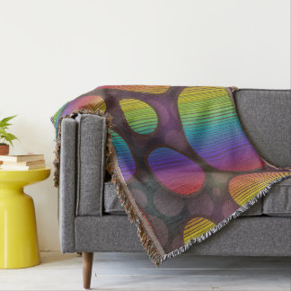 Colorful Circles Abstract Throw Blanket