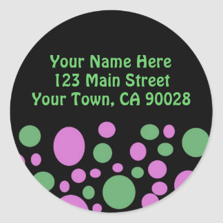 Colorful Circles Address Label