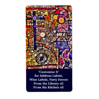 Colorful Circles Mosaic Southwestern Cross Design