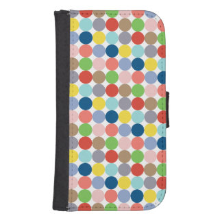Colorful circles of color in pastel galaxy s4 wallets