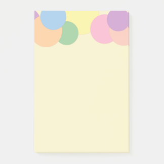 Colorful Circles Pattern Post-it Notes