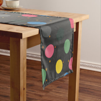 Colorful Circles Short Table Runner