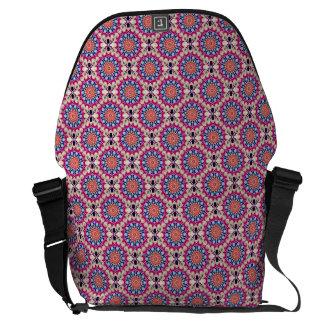 Colorful Circular Repeating Abstract Pattern Messenger Bag