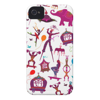 colorful circus characters on white iPhone 4 cover