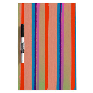 Colorful Circus Clown Stripes Dry Erase Whiteboards