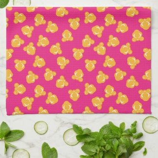 Colorful Circus Popcorn Pattern Kitchen Towel