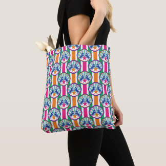 Colorful Circus Show Pony Stripes Tote Bag
