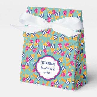 Colorful Circus Treats Ice Cream Popcorn Party Favor Box