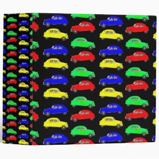 Colorful Citroen 2 CV Tiled Pattern Vinyl Binders