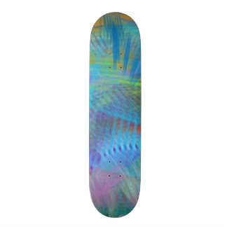 Colorful City Broadway Lights Abstract Skate Board Deck