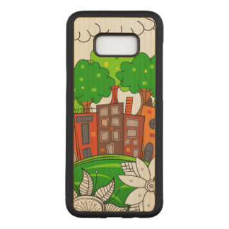 Colorful City Landscape Carved Samsung Galaxy S8+ Case