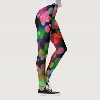 Colorful City lights Leggings