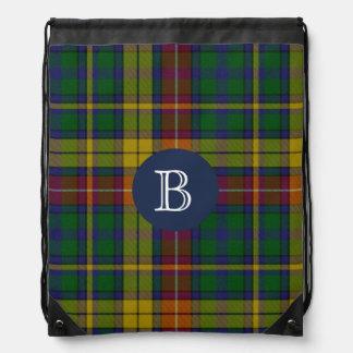 Colorful Clan Buchanan Plaid Monogram Backpack