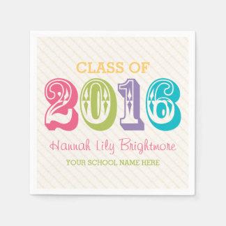 COLORFUL Class of 2016 GRADUATION Paper Napkin
