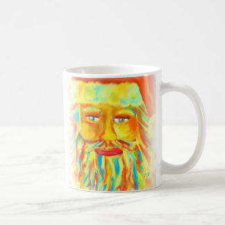 """Colorful Claus"" Digital Art Santa Coffee Mug"