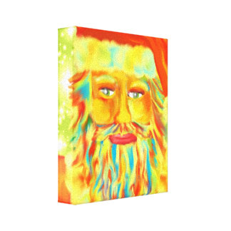Colorful Claus Santa Art Canvas Print
