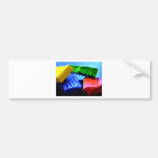 Colorful Clay Bumper Sticker