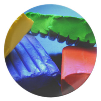 Colorful Clay Plate