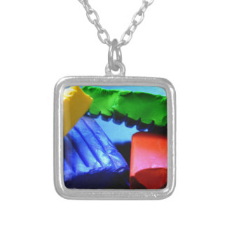 Colorful Clay Silver Plated Necklace