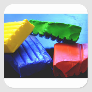 Colorful Clay Square Sticker