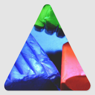 Colorful Clay Triangle Sticker
