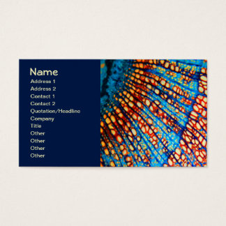 Colorful Clematis Root Nature Mandala Business Card