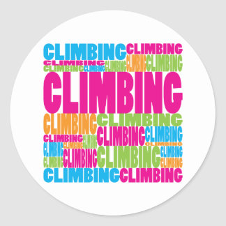 Colorful Climbing Classic Round Sticker