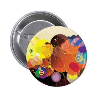 Colorful clouds 2 inch round button