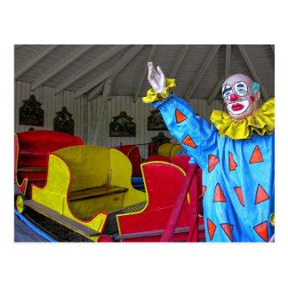 Colorful Clown Postcard