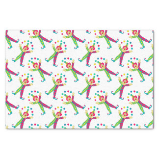 Colorful Clowns Tissue Paper